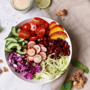Colourful Lunchbowl with Granola topping