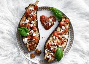 Grilled Eggplant with a Creamy Tomato Sauce