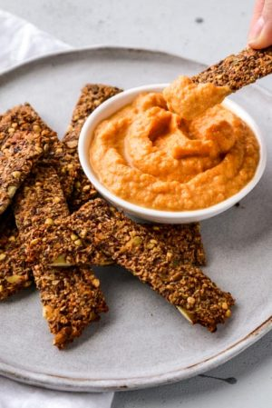 Hartige Crackers en Dip